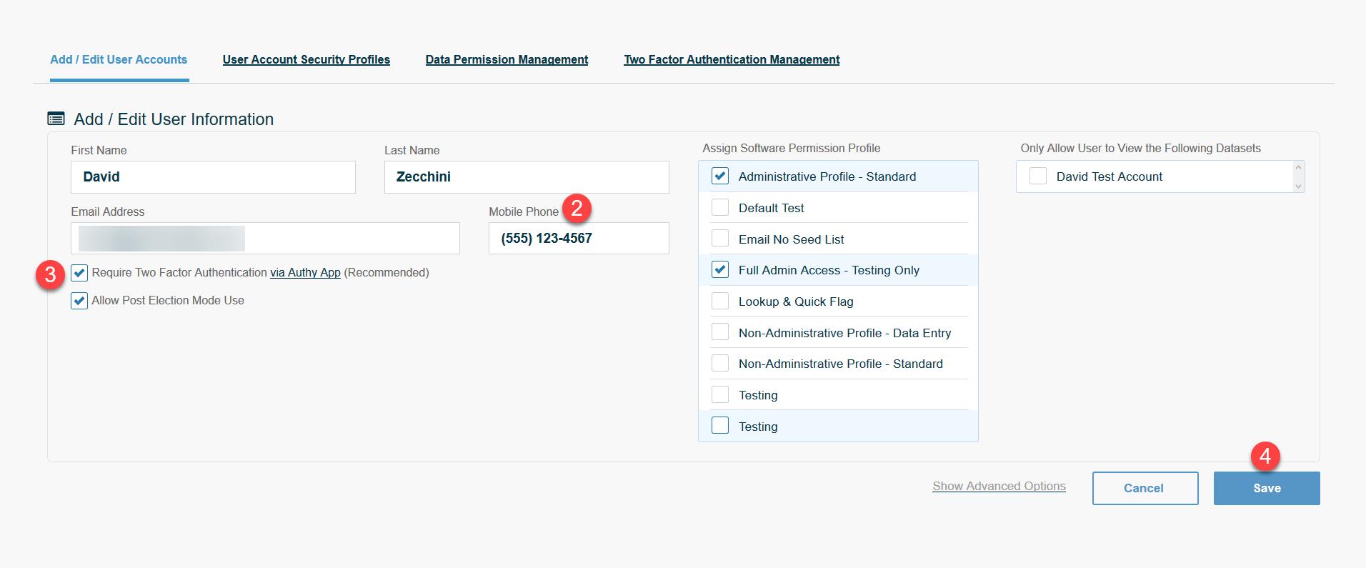 Add/Edit User Accounts